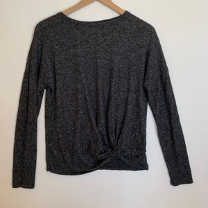 A New Day Long Sleeve Sweater Heather Gray
